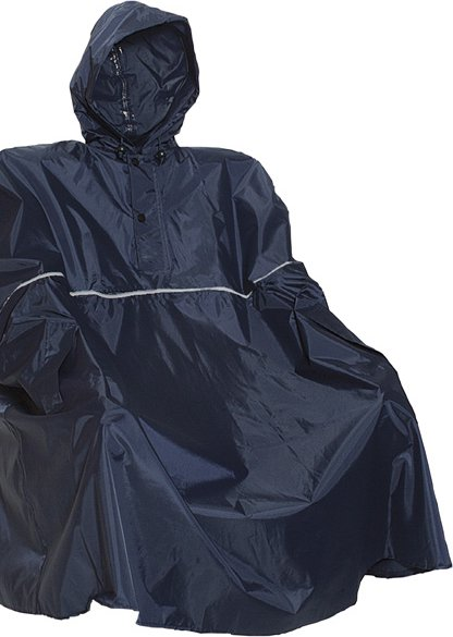 Anuy blue action poncho kopen regenkleding for Opblaasboot action
