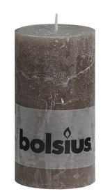 Bolsius stompkaars taupe 130 x 68 mm