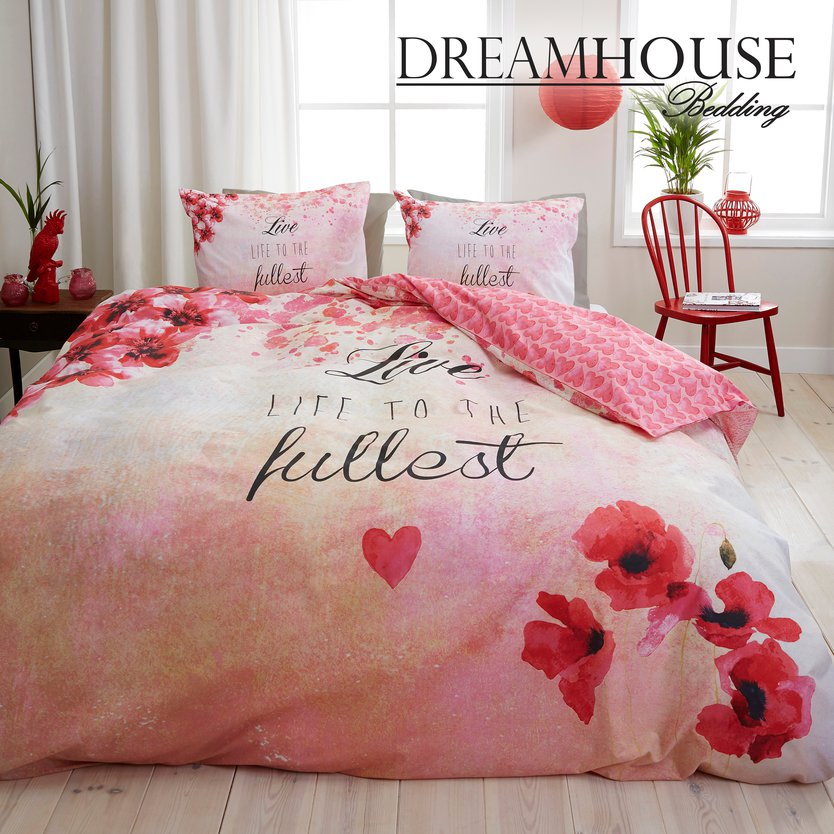Dreamhouse Bedding Fullest Pink dekbedovertrek