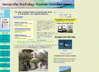 Holiday home in Tenerife insider and tourist guide.