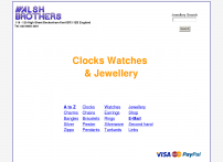 Clocks and watches at Walsh Brothers jewellery shop Beckenham.