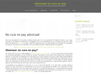 No cure no pay advocaat - alle informatie over no cure no pay