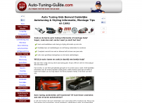 Tuning - AutoTuning - CarTuning - Auto-Tuning-Guide.com