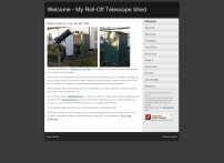 Welcome - My Roll-Off Telescope Shed