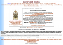 www.davewestclocks.co.uk antique and collectable clocks at affordable prices-and much more