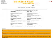 Directory Staff Web Directory