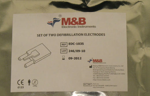 M & B Electronic Instruments AED7000 Elektroden