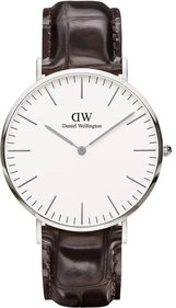 Daniel Wellington Classic York Silver 40mm klocka