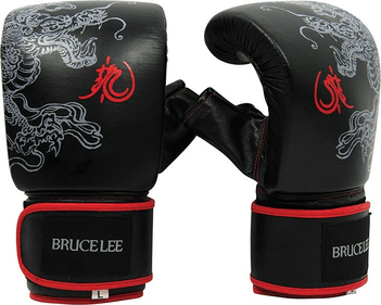Bruce Lee Dragon Deluxe punching bag-gloves