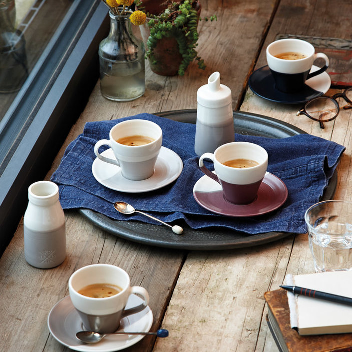 Royal Doulton Coffee Studio Melk En Suiker Set Tweekleurig