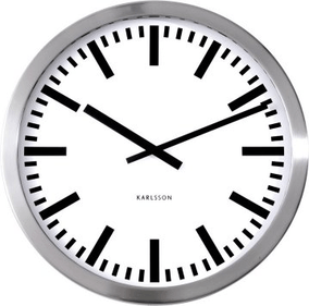Polished Aluminium Karlsson Wall Clock