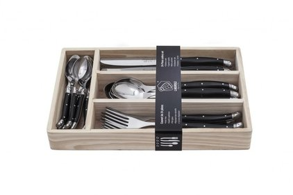 Laguiole Style de Vie place setting 24-piece black ABS