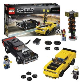 LEGO Speed Champions 2018 Dodge Challenger SRT Demon en 1970 Dodge Charger R/T racewagens - 75893