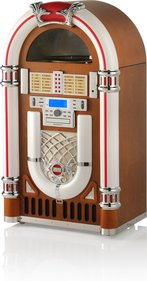 Ricatech RR2100 Light Wood XXL Classic LED Jukebox
