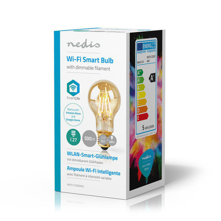 Nedis Wi-Fi Smart LED-Lamp - Goud
