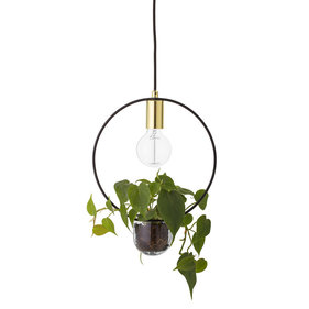 Bloomingville around golden hanging lamp