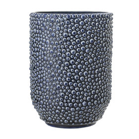 Bloomingville blue ceramic vase