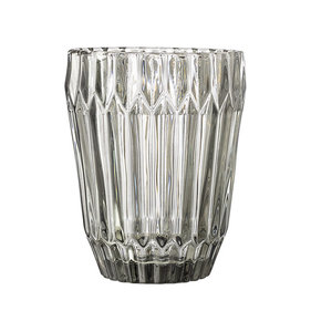 Bloomingville glass water glass gray