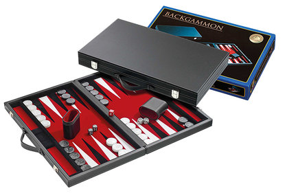 Philos Backgammon rot groß 46,5 x 28 cm