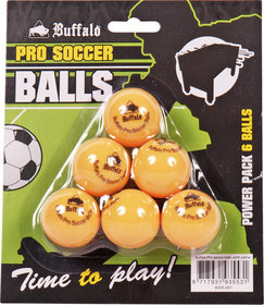 Buffalo Pro tafelvoetbal balletjes set/6pcs yellow