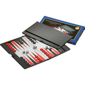 Philos Backgammon Reiseset Magnetkoffer