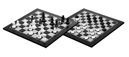 Philos wooden chess-dam set 40x40 cm