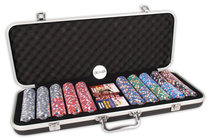 Pokerset DLX 500 Clay Chips 13.5gr Value