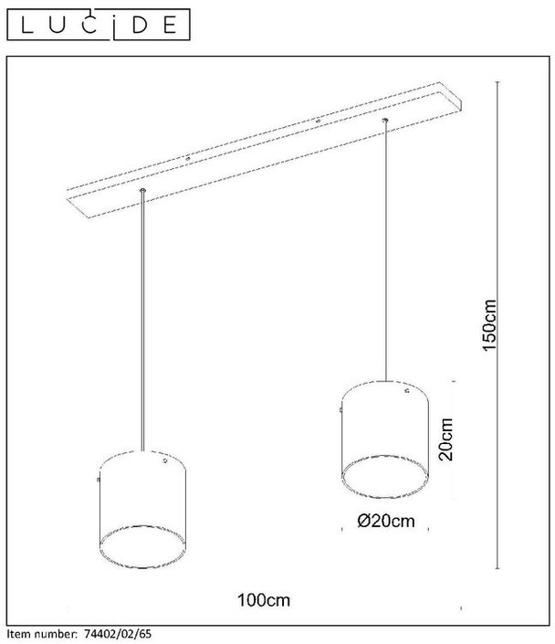 Lucide - OWINO - Hanglamp - 74402/02