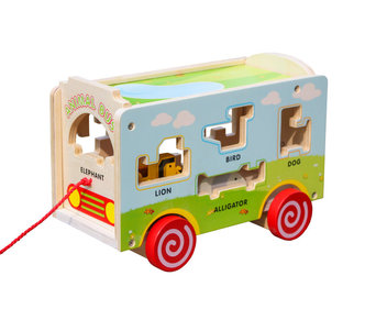 Valetti wooden activity cube animal shapes
