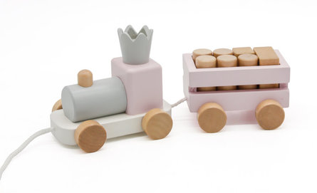 Valetti Wooden Baby Pink Train