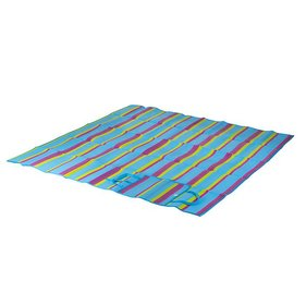 Bo-Camp - Beach mat - Blue - 180x180 cm