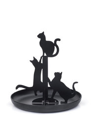 Kikkerland black cats jewelry rack