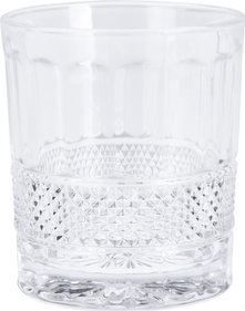 Valetti whiskey glas kristal ruit 300 ml - set van 4