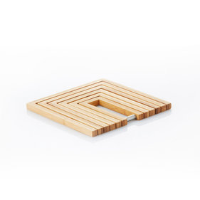 Point-Virgule fold-out pan coaster made of bamboo 19x19x1.2cm