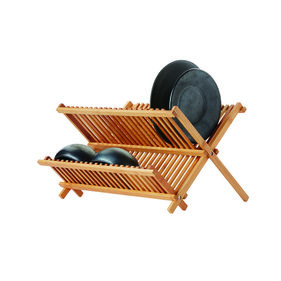 Point-Virgule dish rack made of bamboo 42x33x26 cm