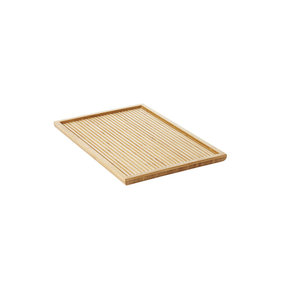 Point-Virgule tea tray with bamboo relief large 38x25x2cm