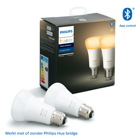Philips Hue Bluetooth standaardlamp - E27 - warm tot koelwit licht - 2-pack