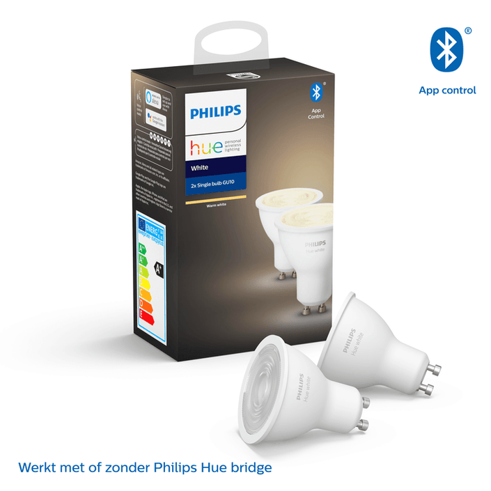 Philips Hue Bluetooth spot - GU10 - warmwit licht - 2-pack
