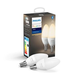 Philips Hue Bluetooth kaarslamp - warmwit licht - 2-pack
