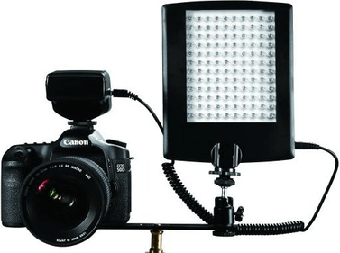 Falcon Eyes LED Lamp met Flitser DV-120FV