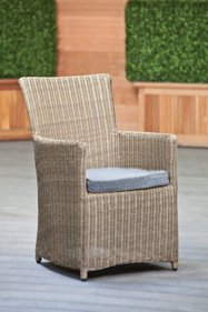 Gardexo Grenoble wicker tuinstoel