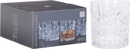 Valetti Whiskey Drinking glasses set 4 pieces