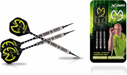 Michael van Gerwen Messing Soft Darts im Wolfram-Look 18 Gramm