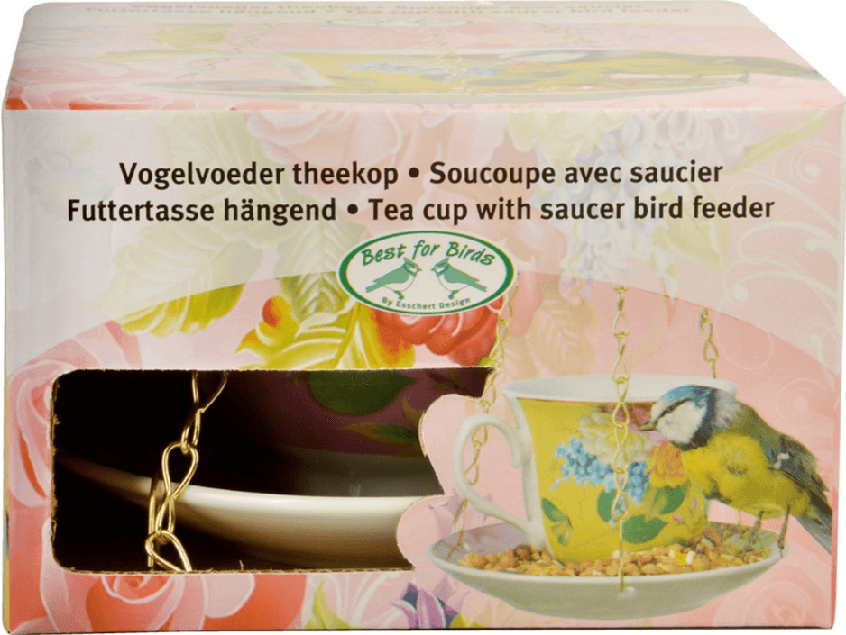 Esschert Design Vogelvoeder theekop in giftbox