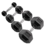 Body-Solid Hexagon Rubber Dumbbell set