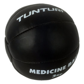 Tunturi Medicine Ball - Crossfit Ball - Medicine ball - 3 kg - Black Leather