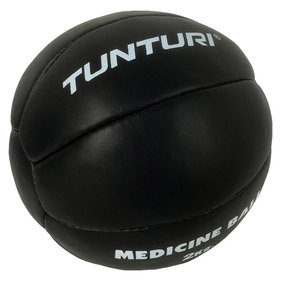 Tunturi Medicine Ball - Crossfit Ball - Medicine Ball - 2 kg - Black Leather