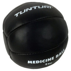 Tunturi Medicine Ball - Crossfit Ball - Medicine ball - 1 kg - Black Leather