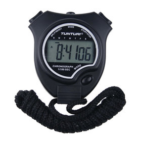 Tunturi Basis - Stopwatch - Digitale Stopwatch - Sport Stopwatch - Grote Display Zwart