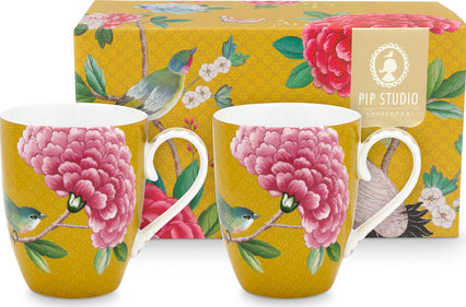 Pip Studio Blushing Birds 350ml bekers - set van 2